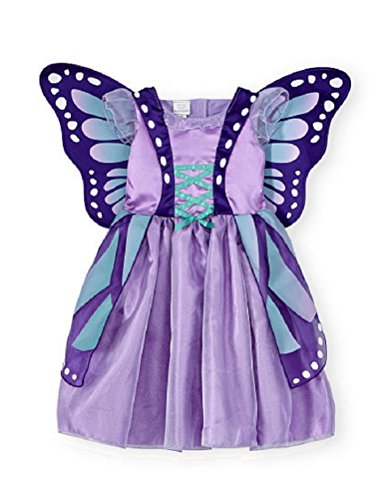 Baby & Toddler Koala Kids Purple Butterfly Costume Dress Gown (12/18 Months)