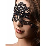 GreyGasms The Enchanted Black Lace Mask, 1 Count