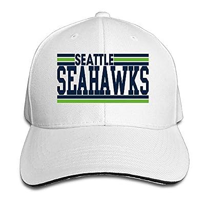 Karoda Football Logo Seahawks Sandwich Hunting Peak Hat & Baseball Cap