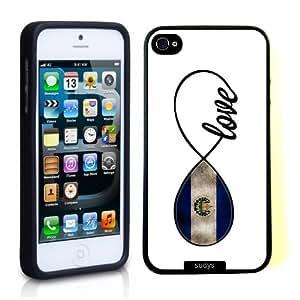 SudysAccessories Salavadoran Love El Savador Flag Infinity Love ThinShell Case Protective iPhone 5 Case iPhone 5S Case