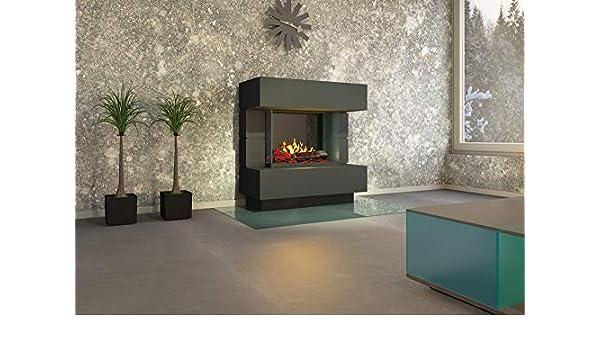 muenkel Diseño London 900 [Chimenea eléctrica OPTI de Myst]: Color Blanco (Luz Blanca Cálida) - sin calefacción: Amazon.es: Juguetes y juegos