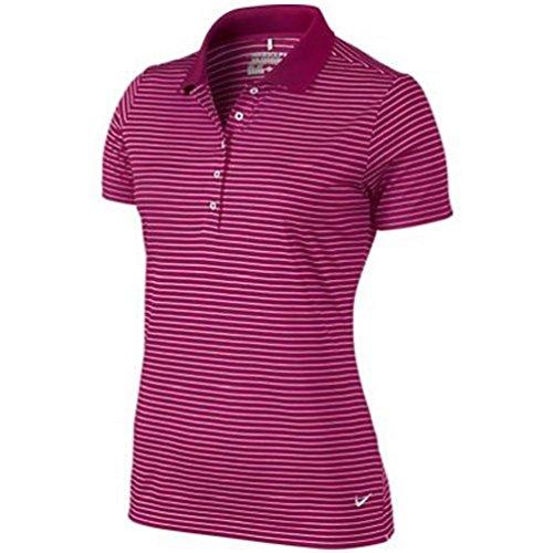 Nike Tech Stripe Golf Polo 2015 Ladies Sport Fuchsia/White Small