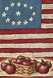 "Stars Stripes & Apples Patriotic Mini Garden Flag 12"" x 18"""