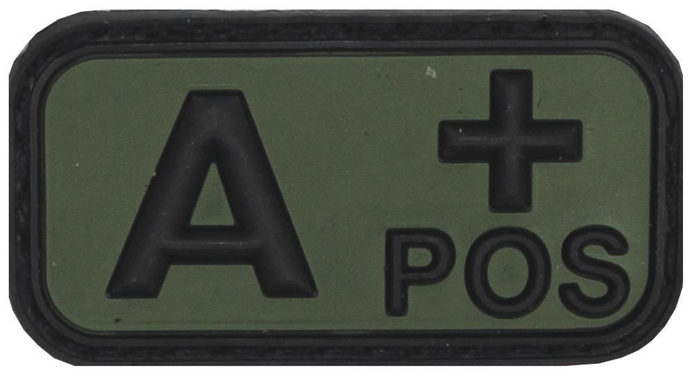 Parche de velcro, negro/verde, grupo sanguíneo a POS, 3D Max Fuchs AG