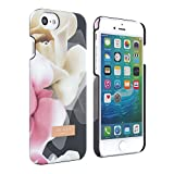iPhone 7 Case, Official Ted Baker HS16 Collection ANO Case in Floral Print for Apple iPhone 7 for Women with Soft Feel Shell Rose Design Hard Shell Snap on Back Cover - Porcelain Rose Black