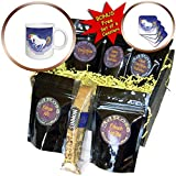 3dRose Sven Herkenrath Animal - Illustration of Funny Unicorn Horse with Dreaming Background - Coffee Gift Baskets - Coffee Gift Basket (cgb_294931_1)