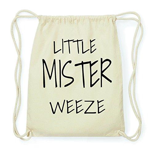 JOllify WEEZE Hipster Turnbeutel Tasche Rucksack aus Baumwolle - Farbe: natur Design: Little Mister Y49Vp5