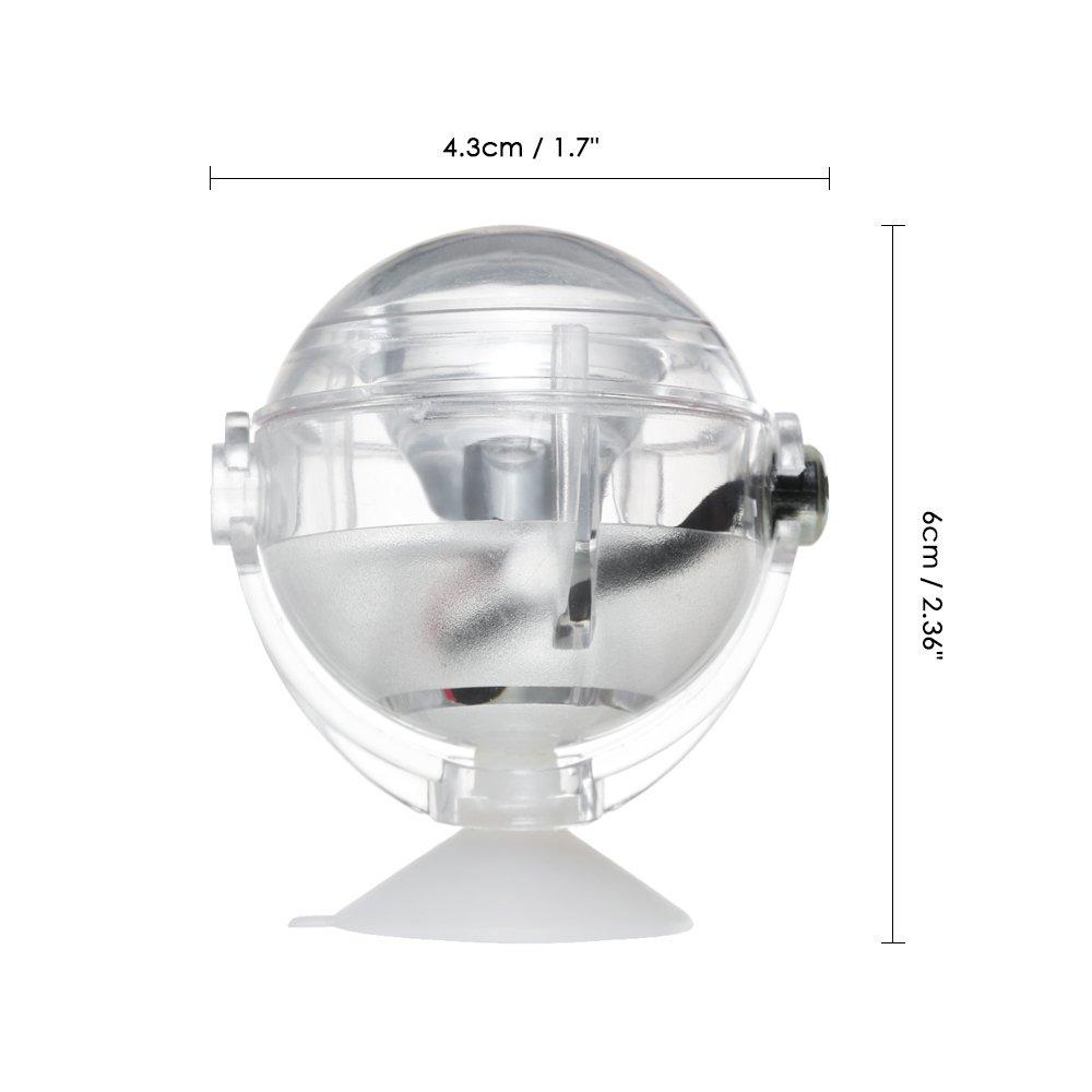 Decdeal LED Acuario Impermeable Luz Sumergible,Dise/ño de Lentes Convexos Spotlight,Luz Decorativa del Tanque de Peces