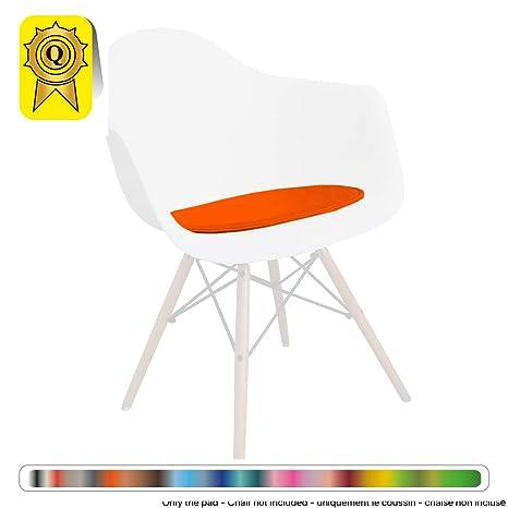 Decopresto Venta 1 x Almohadilla Personalizada para la Silla escandinava Material: imitación de Cuero Color: Naranja DP-PADA-OR-1P