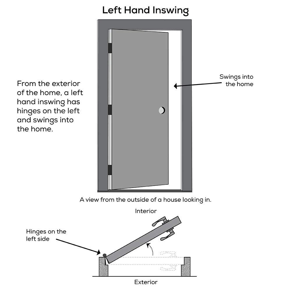 Clear Glass 1//2 Lite 2-Panel Left Hand in-Swing 32 x 80 Prehung Front Door National Door Company Z000315L Fiberglass Smooth Primed