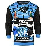 NFL Carolina Panthers Ugly 3D Sweater, X-Large
