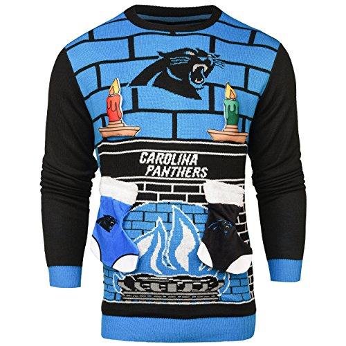 NFL Carolina Panthers Ugly 3D Sweater, X-Large by Forever Collectibles
