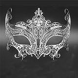 Face mask Shield Veil Guard Screen Domino False Front Female Crown Venice Halloween Metal mask COS Makeup mask Dance Princess Show Photo Props Gold Silver