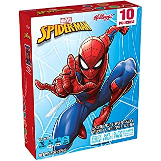Spiderman, Fruit Snacks, Gluten Free, Fat Free, 8 Ounce,10 Count Pouches, Pack of 8