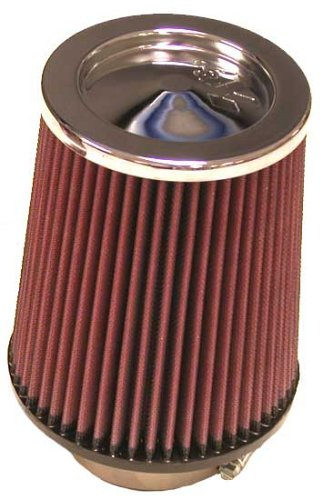 K&N RC-5100 Universal Clamp-On Air Filter: Round Tapered; 3.125 in (79 mm) Flange ID; 7 in (178 mm) Height; 6 in (152 mm) Base; 5 in (127 mm) Top