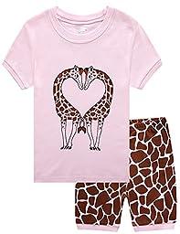 Family Feeling Deer Little Girls\' Sleepwear Set pj Size 7 Years