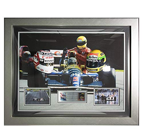 Signed Ayrton Senna photo & Nigel Mansell 1/2 Scale for sale  Delivered anywhere in USA
