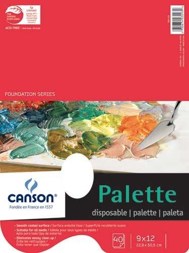 Disposable Palette 40 Sht Pad With Hole 9X12 40 Sht Pad