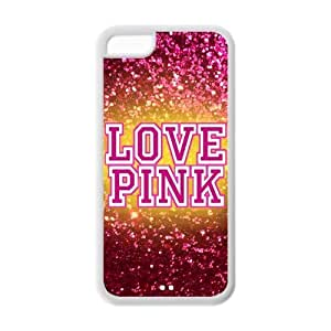 DiyCaseStore Trendy Hipster Love Pink Theme iPhone 5C Hard Case Cover Protector Christmas Gift Idea