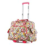 Olympia Deluxe Fashion Rolling Overnighter, Duffel Bag in Tulip