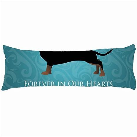 Decorativa almohadas de perro salchicha Pet pérdida Memorial ...