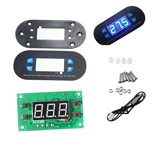 Compatible SCM & DIY Kits Module Board - DC12V XD-W2308 Digital Thermostat Temperature Controller Adjustable Sensor Meter Blue LED - 1 x Digital Thermostat Temperature Alarm Controller