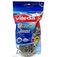 Vileda Glitzi Inox Dish Washing Metallic Spiral Scourer 2Pcs