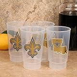 New Orleans Saints Plastic Tumbler 4-Pack