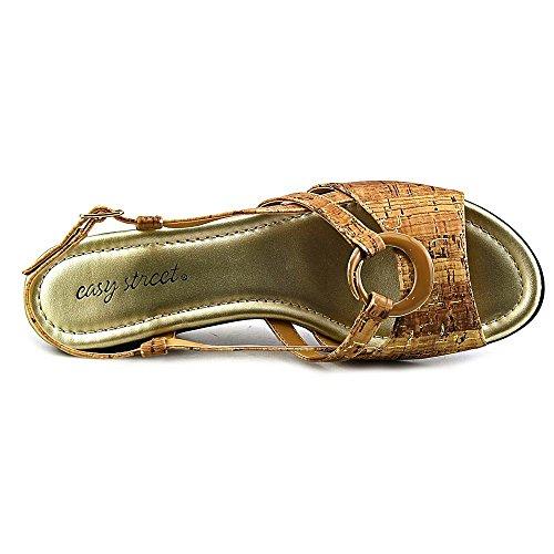 Easy Street Womens Tempe Dress Sandal Cork Gold Flecked EQey2zqtsp