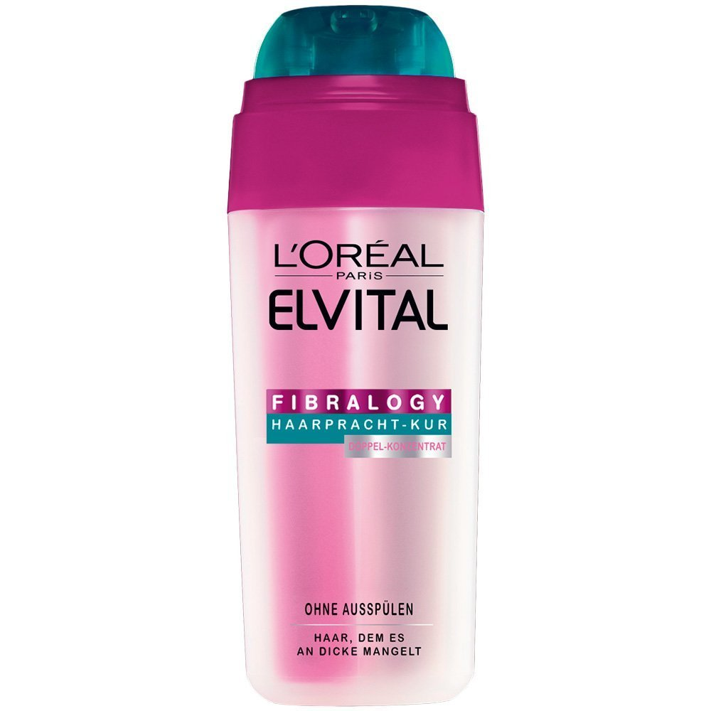 3 x L'Oréal Paris Elvital Fibralogy Haarpracht-Kur / je 30ml/ für feines Haar/ ohne Ausspülen / Strukturgebendes Serum L' Oréal Paris