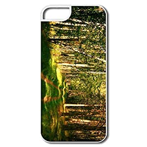 IPhone 5/5S Case, Forest Road Summertime White Covers For IPhone 5 5S