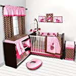 Lady-Bugs-PinkChocolate-Bumper-Pad