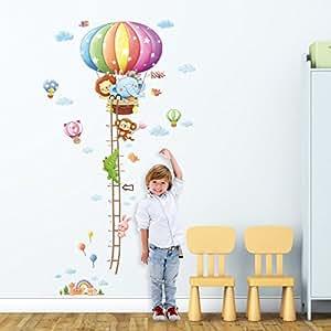 Decowall dm 1606 gr fica de altura de globo aerost ticos for Pegatinas decorativas para bebes