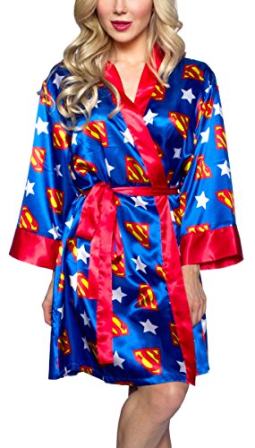 DC Comics Superman Silky Satin Robe