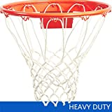 Katop Basketball Nets Heavy Duty All Weather Thick Net Replacement 12 Loops(Outdoor and Indoor) (White)