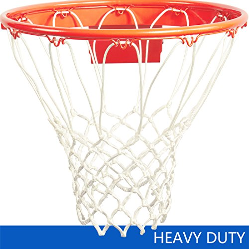 katop Basketball Nets Heavy Duty All Weather Thick Net Replacement 12 Loops(Outdoor and Indoor) (White) (Indoor Replacement)