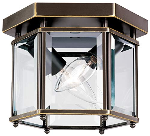 Sea Gull 7647EN-782 Bretton Flush Mount, 2-Light 7 Total Watts, Heirloom Bronze ()