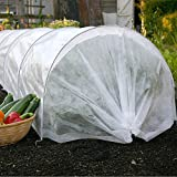 TYLife Garden Tunnel Kit,1090-3211 Fleece Garden Easy Tunnel Cloche,Plant Cover for Growing Plants, 10' Long x 18'' High