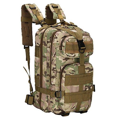 WanYang Táctica Militar Mochila Impermeable CS Camuflaje Paquete de Militar para Acampada Camping Senderismo Deport Nylón Impermeable Camuflaje A