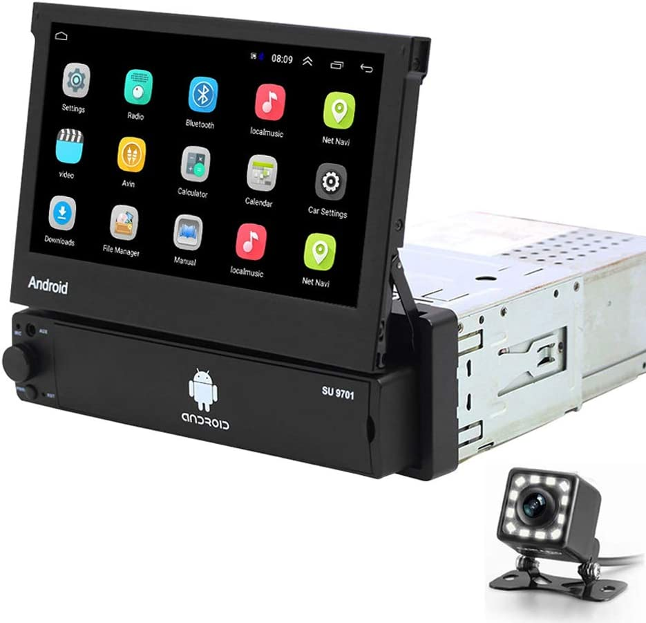 Hikity Andriod Single Din Car Stereo 7 inch Flip out Touch Screen