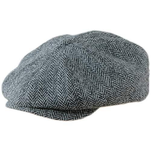 Sterkowski Vintage Style Peaky Blinders Cap Harris Tweed US 6 3/4 Herringbone