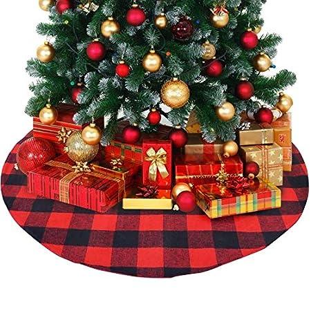 ZHAOLV Falda de árbol de Navidad de 120 cm Alfombra Redonda ...