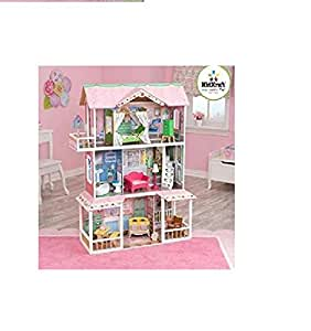 Kidkraft Sweet Savannah Wooden Dollhouse With 13 Pieces Of Furniture Toys Games