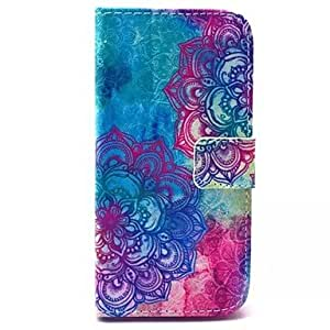 SHOUJIKE Flowers Pattern PU Leather Case with Stand for Samsung Galaxy S5 MINI