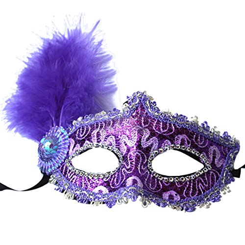 The Craft Nancy Halloween Costume (BessWedding Masquerade Mask Halloween Costume Christmas Party Mask with Feather)