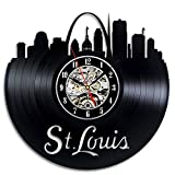 St. Louis City Vinyl Record Clock Wall Decoration Modern Vintage Art Room Review