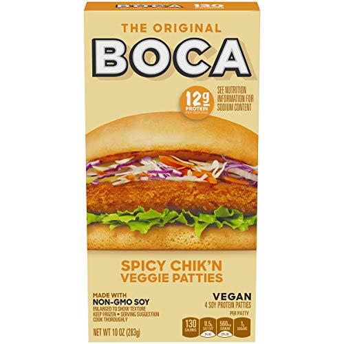 BOCA Non-GMO Soy Spicy Chik'n Vegan Patties, 4 ct - 10.0 oz Box