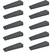 Sossai 10 x deurwig/deurstopper (10 stuks) Gemaakt van hard rubber TSK95 | Kleur: antraciet