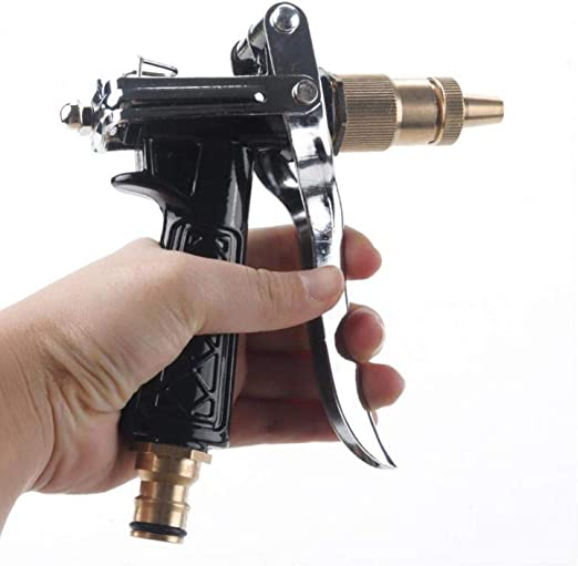 Zonster Ajustable Manguera de Cobre Pistolas de presión Boquilla de la Pistola Manguera de jardín Agua para riego del jardín/Coches Lavado de vehículos: Amazon.es: Hogar