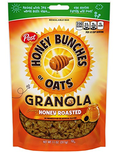 Post Honey Bunches of Oats Granola 10 Ounce Resealable Bag (Honey, 4-Pack)